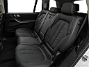 2019 BMW X7 xDrive40i, rear seats from drivers side.