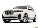 2019 BMW X7 xDrive40i, front angle view, low wide perspective.