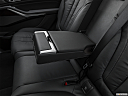 2019 BMW X7 xDrive40i, rear center console with closed lid from driver's side looking down.