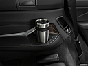 2019 BMW X7 xDrive40i, third row side cup holder with coffee prop.