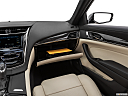 2019 Cadillac CTS Luxury, glove box open.