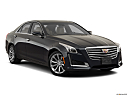 2019 Cadillac CTS Luxury, front passenger 3/4 w/ wheels turned.