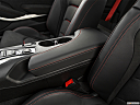 2019 Chevrolet Camaro ZL1, front center console with closed lid, from driver's side looking down