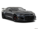 2019 Chevrolet Camaro ZL1, front passenger 3/4 w/ wheels turned.