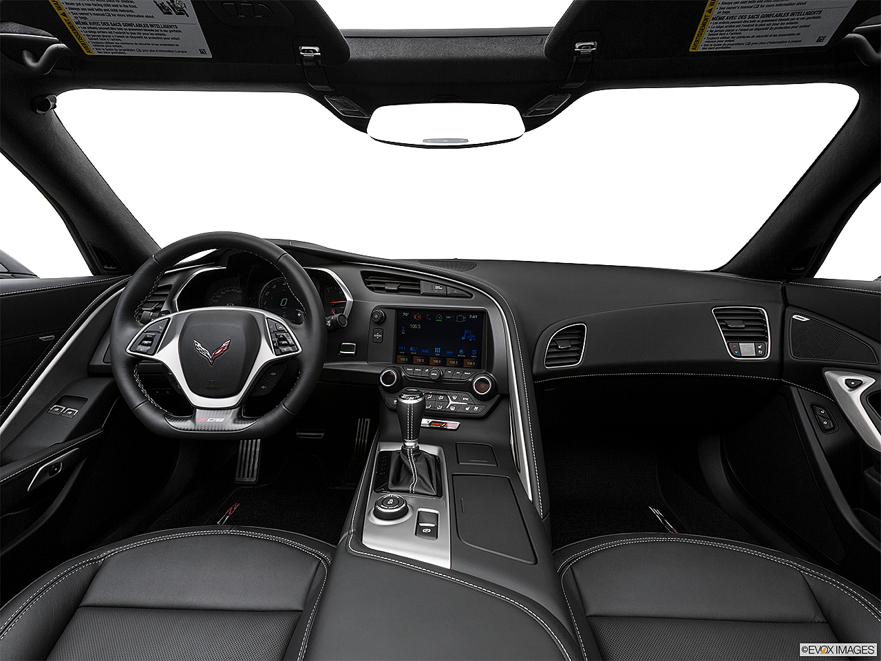 2019 Chevrolet Corvette Z06 3LZ, centered wide dash shot