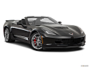 2019 Chevrolet Corvette Z06 3LZ, front passenger 3/4 w/ wheels turned.