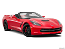 2019 Chevrolet Corvette Stingray 3LT, front passenger 3/4 w/ wheels turned.