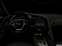 "2019 Chevrolet Corvette Grand Sport 3LT, centered wide dash shot - ""night"" shot."