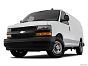 2019 Chevrolet Express 2500 Cargo WT, front angle view, low wide perspective.