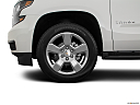 2019 Chevrolet Tahoe LT, front drivers side wheel at profile.