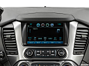 2019 Chevrolet Tahoe LT, closeup of radio head unit
