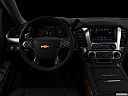 "2019 Chevrolet Tahoe Premier, centered wide dash shot - ""night"" shot."