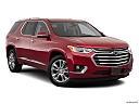2019 Chevrolet Traverse High Country, front passenger 3/4 w/ wheels turned.