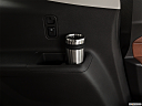 2019 Chevrolet Traverse High Country, third row side cup holder with coffee prop.