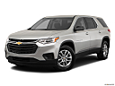 2019 Chevrolet Traverse LS, front angle medium view.