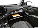 2019 Chevrolet Traverse LS, glove box open.