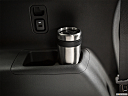 2019 Chevrolet Traverse LS, third row side cup holder with coffee prop.