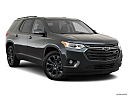 2019 Chevrolet Traverse RS, front passenger 3/4 w/ wheels turned.
