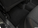 2019 Chevrolet Trax LS, rear driver's side floor mat. mid-seat level from outside looking in.