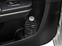 2019 Chrysler 300 Touring, second row side cup holder with coffee prop, or second row door cup holder with water bottle.