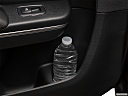 2019 Chrysler 300 Touring L, second row side cup holder with coffee prop, or second row door cup holder with water bottle.