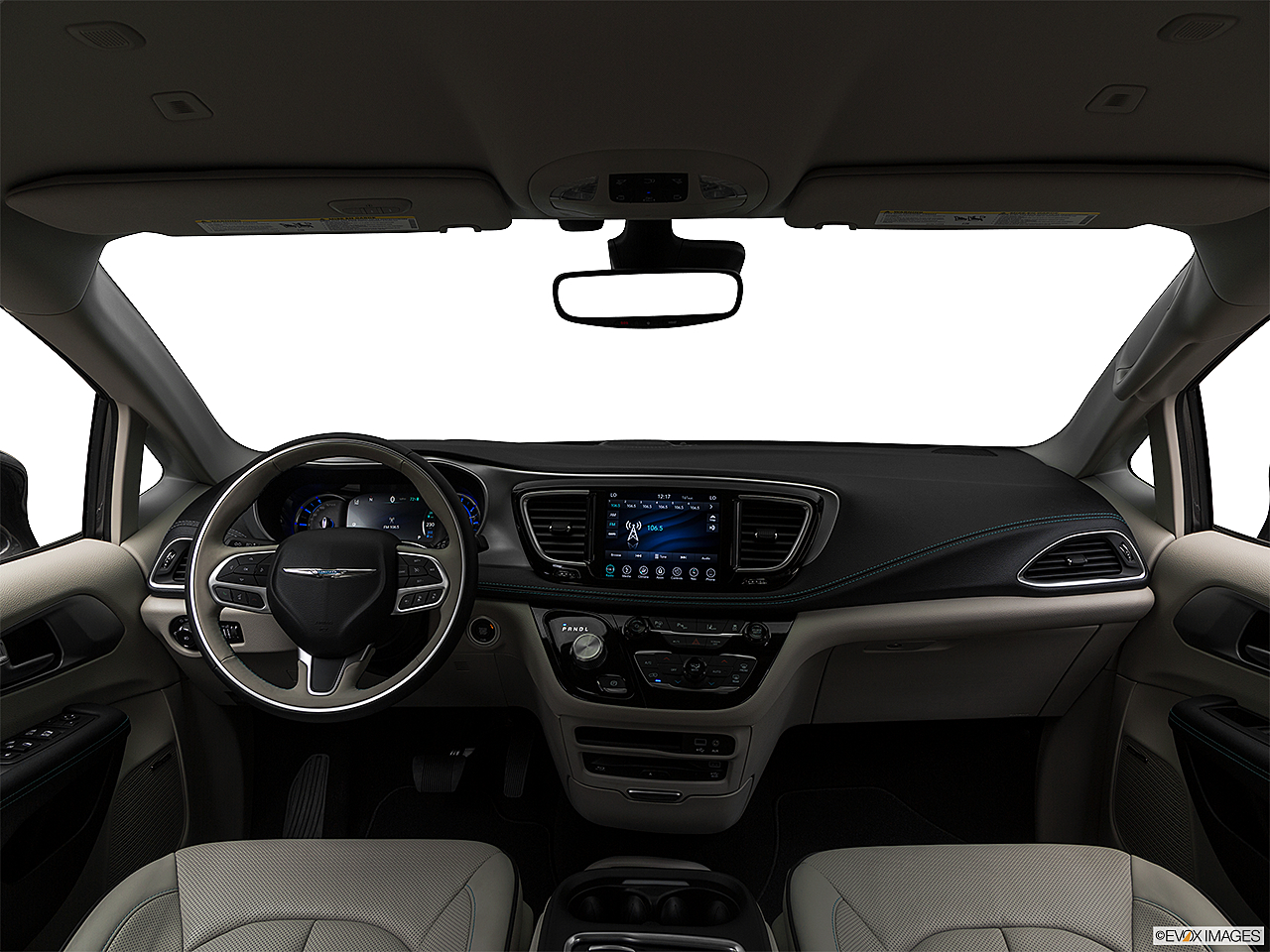 2019 Chrysler Pacifica Hybrid Limited, centered wide dash shot