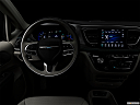 "2019 Chrysler Pacifica Hybrid Limited, centered wide dash shot - ""night"" shot."