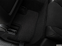 2019 Dodge Challenger R/T Scat Pack, rear driver's side floor mat. mid-seat level from outside looking in.