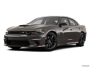 2019 Dodge Charger Scat Pack, front angle medium view.