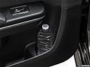 2019 Dodge Charger Scat Pack, second row side cup holder with coffee prop, or second row door cup holder with water bottle.