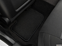 2019 Dodge Charger GT, rear driver's side floor mat. mid-seat level from outside looking in.