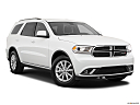 2019 Dodge Durango SXT, front passenger 3/4 w/ wheels turned.