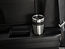 2019 Dodge Grand Caravan SE, third row side cup holder with coffee prop.