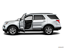 2019 Ford Explorer XLT, driver's side profile with drivers side door open.