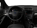 2019 Ford Explorer XLT, steering wheel/center console.