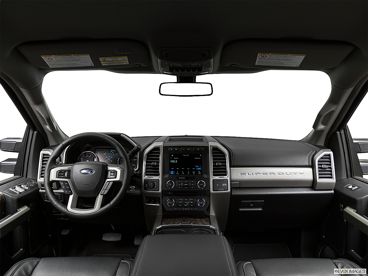 2019 Ford F-250 SD Lariat, centered wide dash shot
