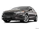 2019 Ford Fusion SE, front angle view, low wide perspective.
