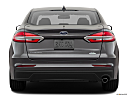 2019 Ford Fusion SE, low/wide rear.