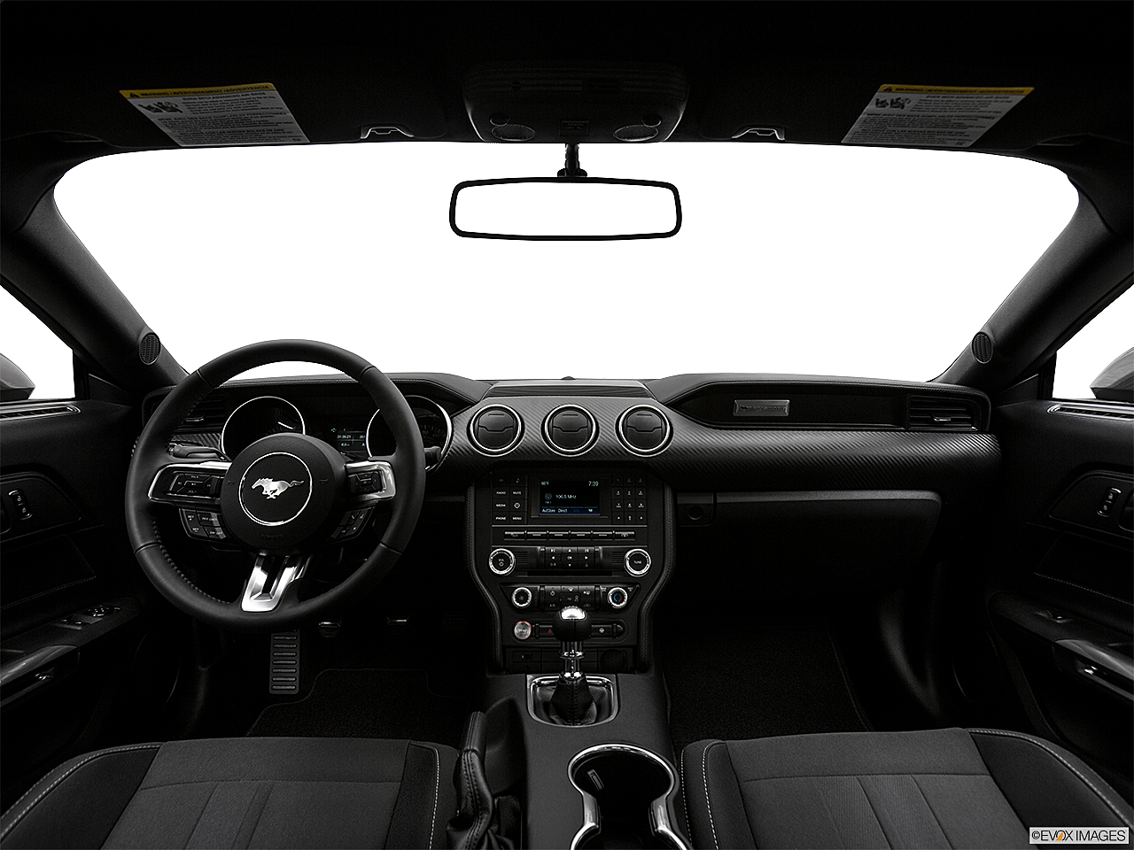 2019 Ford Mustang ECOBOOST, centered wide dash shot