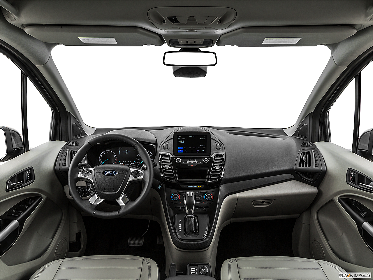 2019 Ford Transit Connect Titanium, centered wide dash shot
