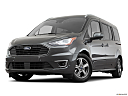 2019 Ford Transit Connect Titanium, front angle view, low wide perspective.