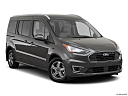2019 Ford Transit Connect Titanium, front passenger 3/4 w/ wheels turned.