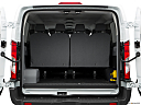 2019 Ford Transit Wagon 350 Low Roof XL, trunk open.