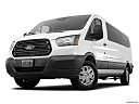 2019 Ford Transit Wagon 350 Low Roof XL, front angle view, low wide perspective.