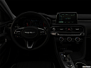 "2019 Genesis G70 2.0T Dynamic, centered wide dash shot - ""night"" shot."