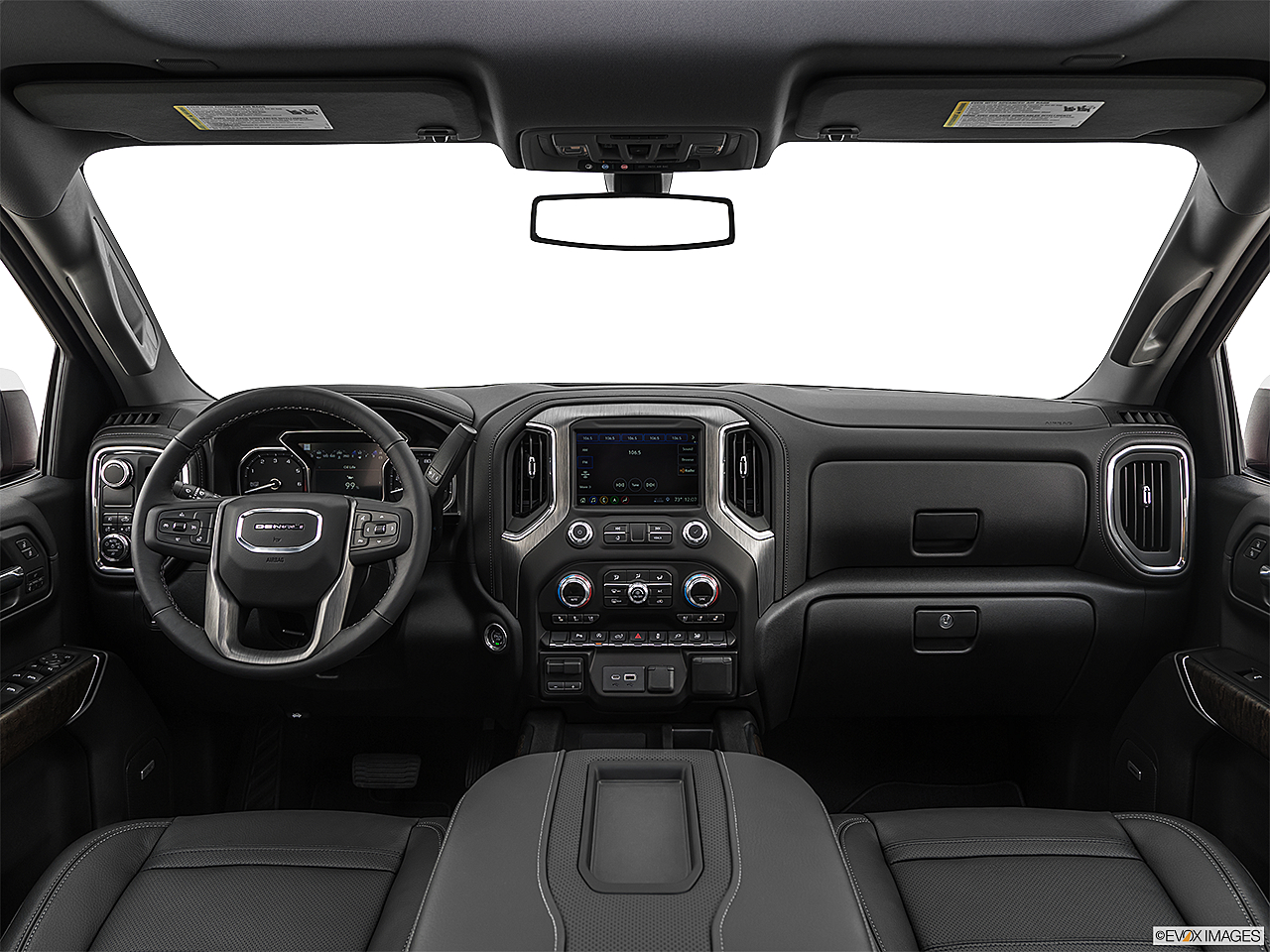 2019 GMC Sierra 1500 Denali, centered wide dash shot