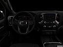"2019 GMC Sierra 1500 Denali, centered wide dash shot - ""night"" shot."