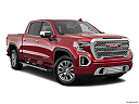 2019 GMC Sierra 1500 Denali, front passenger 3/4 w/ wheels turned.