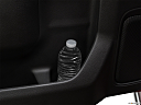 2019 GMC Sierra 1500 Denali, second row side cup holder with coffee prop, or second row door cup holder with water bottle.