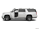 2019 GMC Yukon XL Denali, driver's side profile with drivers side door open.